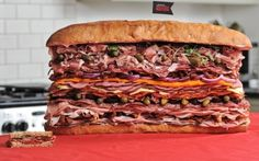 Meatiest Sandwich in 30 mins by  Meat Professional recipe - sorry but I think this is hilarious.........