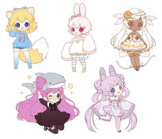First batch of chibi sketches! And it's good since I'm working on my chibi style overall and gives me a. Cute Anime Chibi, Kawaii Chibi, Kawaii Art, Kawaii Anime, Chibi Characters, Cute Characters, Character Inspiration, Character Art, Character Design