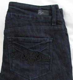 Women PPD Paige Hidden Hills Jeans Straight Leg Dark Wash Made in USA 29 X 29 #Paige #StraightLeg