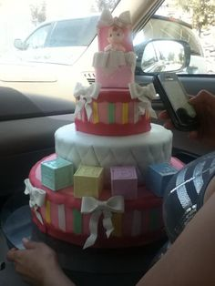 Girl Baby Shower cake. Done by my friend Kathy Benavides.