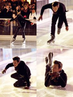 How to fall with style << Chris Colfer is a precious cinnamon roll of a human being and he shall not be harmed