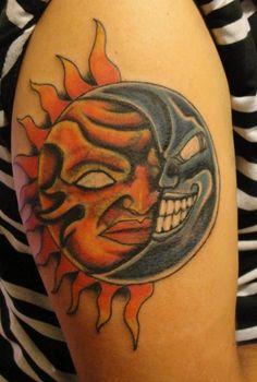 1103cee4f Wicked Tattoos Full Back Tattoo Designs 10 3 Tattoo, Color Tattoo, Moon Sun  Tattoo