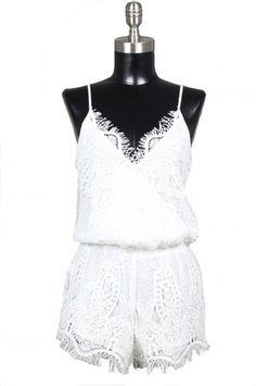 Your Keepsake Crochet Lace Romper - White RESTOCK ARRIVES SOON!