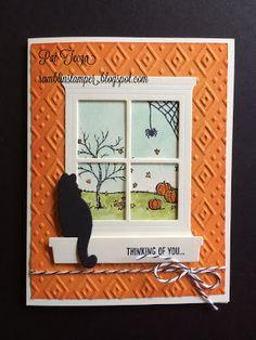 Stampin' Up! 2015 Holiday Catalog.  Happy Scenes & Hearth & Home Framelits by Pat Tecza