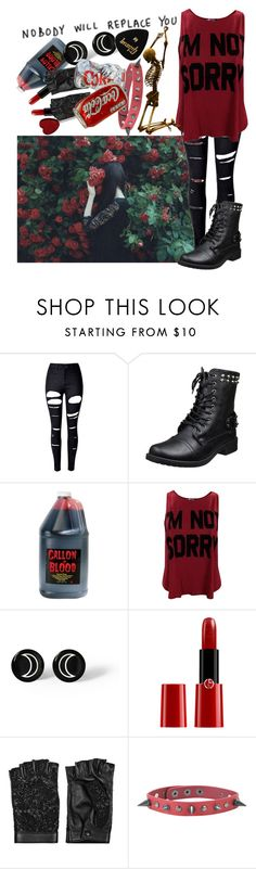 """""""Don't dream it, be it"""" by biter-sweet ❤ liked on Polyvore featuring WithChic, Giorgio Armani and Valentino"""