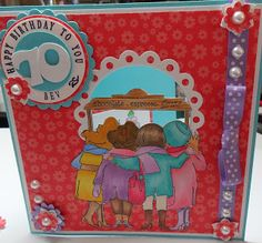 This card is an order. The stamp I have used is Art Impressions Girlfriends Stamps also used were Justrite Papers out of the stash Pun. Art Impressions Stamps, Young At Heart, Paper Artist, Cake Shop, Red Hats, Big Shot, Creative Inspiration, Girlfriends, Card Making