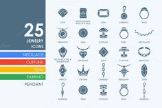 Jewelry icons by Palau on Creative Market