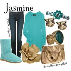 Jasmine-winter, created by disneythis-disneythat on Polyvore