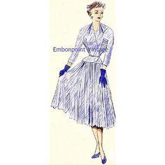 Plus Size (or any size) Vintage 1949 Dress Suit Sewing Pattern - PDF - Pattern No 30 Lula