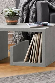 table - The most beatiful home designs Room Furniture Design, Small Furniture, Modern Furniture, Concrete Crafts, Concrete Wood, Coffee Table Next, Concrete Coffee Table, Bed Frame With Storage, Concrete Furniture