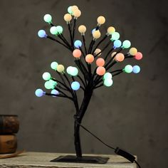 Luminarias LED Cherry Blossom Tree Light Ball Table Lamps Branches Night light for Home Indoor Bedroom Wedding Party Decoration. Cherry Blossom Tree, Blossom Trees, Desk Light, Light Table, Tree Lamp, Indoor Christmas Decorations, Wedding Background, Ball Lights, Tree Lighting
