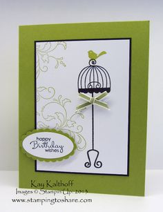 Stamping to Share, Stampin' Up!, Kay Kalthoff, Aviary, Birthday Card, Petite Pairs, Creative Elements