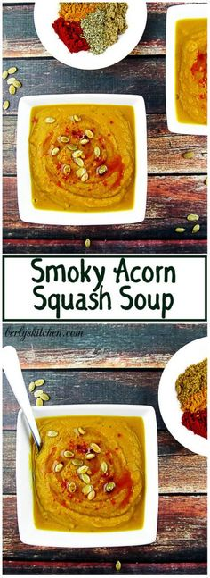 A savory soup made from acorn squash and a variety of spices. The smoky essence of chipotle peppers permeates throughout the dish. via @berlyskitchen