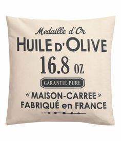 Rustic french country organic cotton pillow cover - HM Home New Interior Design, Interior Styling, Find Furniture, Home Decor Furniture, Elle Decor Magazine, White Cushion Covers, Hm Home, H&m Online, Living Room Inspiration