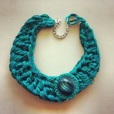 Crochet necklace Collana uncinetto