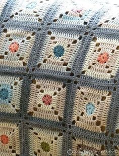 """misty morning in autumn afghan - ~ pattern for the """"square target block' available via the book '200 Crochet Blocks' by Jan Eaton {need to get this book}"""