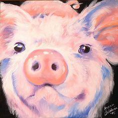 Pink Ears ~ by Artist Marcia Baldwin