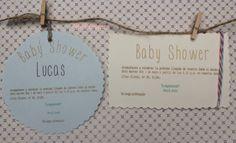 Parte trasera de las invitaciones de una fiesta de Baby Shower