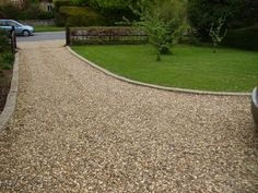 Cobblestone used as driveway bandingcurb authentic reclaimed image result for images of crushed rock driveways solutioingenieria Images