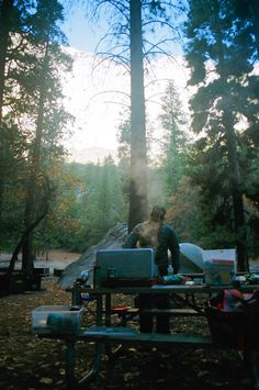 "malonebryson: "" Cooking breakfast in Camp 4 // Yosemite Valley """