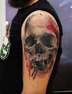 Skull tattoo by grimmy3d on DeviantArt