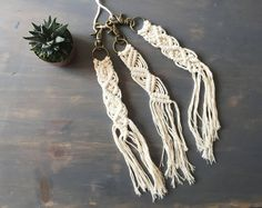 Handmade Macramé Keychain//3 Options Available//OOAK