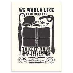 Linograbado Bags de James Brown, 36 x 51 cm