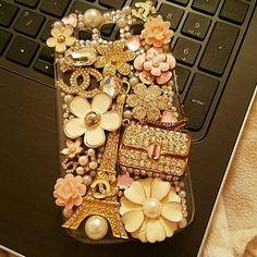 Galaxy S3 Bling Phone Case Gems, Chanel, Paris?!! This phone case Cover is girly and glam! Made for the Samsung Galaxy S3. Will add in the cute Panda phone Holder as well! Accessories Phone Cases