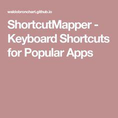 ShortcutMapper - Keyboard Shortcuts for Popular Apps