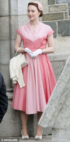 "Saoirse Ronan on the set of ""Brooklyn"" in Wexford, Ireland April 9, 2014"