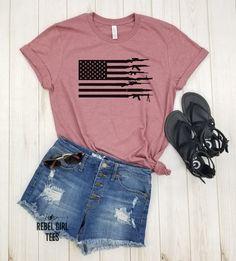 American Flag Guns - Shirt for Veteran, of July, USA Flag With Guns Rifles, Tshirt, Amendment Shirt For Gun Lover Owner Shirt. 2nd Amendment T Shirts, Rifles, Chelsea, Flag Shirt, Unisex, Usa Flag, Running Women, Athletic, American Flag