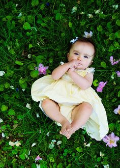 spring baby photo shoot