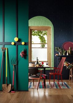 Inspired by Gorman's latest fashion collection, Winter Harvest. Dulux created this kitchen Harvest using the same colour palette. #unitedbystyle #gorman #dulux