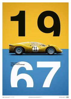 Buy this unique Ferrari - Yellow - Spa-Francorchamps - 1967 - Limited Poster part of our motorsport products collection. Enzo started planning the Ferrari as his revenge on Henry Ford, after losing to