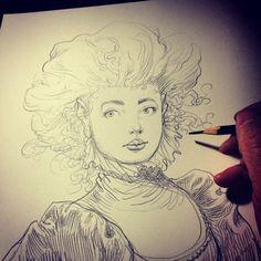 Sketch. Sketchbook Drawings, Easy Drawings, Art Sketches, Sketchbook Ideas, Children's Book Illustration, Character Illustration, Chris Riddell, Character Art, Character Design