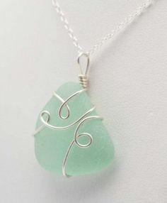 Looped seafoam pendant