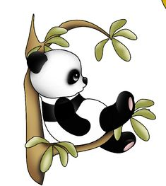 Panda na strome Cute Panda Drawing, Niedlicher Panda, Panda Wallpapers, Panda Party, Cartoon Posters, Bear Wallpaper, Animal Drawings, Easy Drawings, Cute Pictures