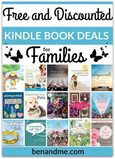 Today's Kindle Book Deals contains free and discounted books for all members of your family (even your pets).