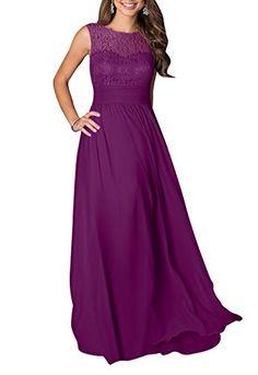 LOVEBEAUTY® Women's Long Sleeveless Chiffon Formal Prom Party Evening Dress Plum US 12