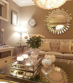 10 Comfortable and Cozy Living Rooms Ideas You Must Check! - Hoomble Most comfortable and cozy living room ideas Glam Living Room, Living Room Decor Cozy, New Living Room, Decor Room, Living Room Interior, Bedroom Decor, Glam Room, Cottage Living, Room Art