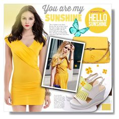 """Just a yellow dream..."" by pamelica ❤ liked on Polyvore featuring Summer, outfit, yellow and dress"
