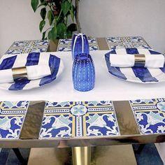 Majolica Tiles On The Dining Table, when in Capri.