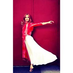 #tbt Emily Tyra @emilytyra floating in Parker Blue ❤️ photographed by Marissa Kaiser @marissakaiser #parkerblue #cashmere #nyc #womenswear #designer #fashion #dance #style