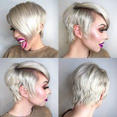 """371 Likes, 4 Comments - Hair, Style, Makeup & Fashion (@pixiepalooza) on Instagram: """"Badass. Nuff said. @alicia_wunderbar ✂️❤️✂️❤️✂️❤️#pixiepalooza"""""""