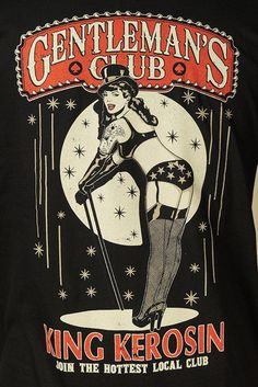 Here's a men's black T shirt with a large back print of a pretty burlesque dancer in tan and red. Isn't she pretty in her top hat and stocki. Burlesque Movie, Vintage Burlesque, Vintage Circus, Vintage Art, Gravure Illustration, Retro Illustration, Illustrations, Cabaret, Le Crazy Horse