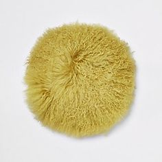 Yellow Mongolian round cushion