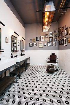 Barber Shop Environment - The floor is beautiful!