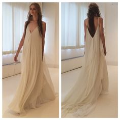 Ethereal hippie chic. Gown by Carol Hannah