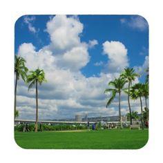 Relax Hard Plastic Coasters with cork back. #coasters #Hawaii