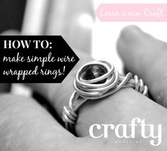 Learn to make wire wrapped rings